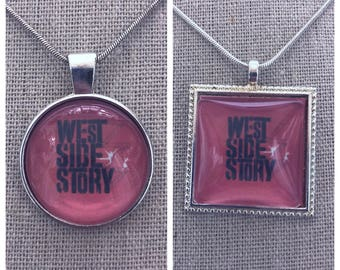Broadway Musical West Side Story pendant.West side story jewelry.West side story keychain. Broadway play west side story