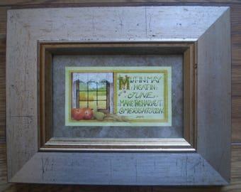 An original watercolour - framed - early work by Debby Faulkner-Stevens dated '97