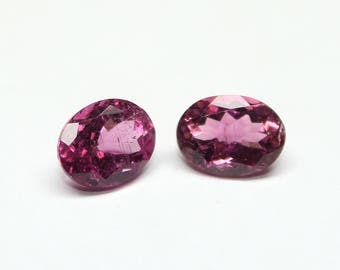 Amazing Natural Pink Tourmaline Oval Faceted Cut 6X8 MM Pink Color Tourmaline 2 PCs Pair Precious Gemstone #02