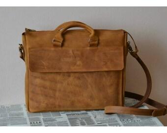 Mens leather bag/messenger bag/leather briefcase/leather laptop bag/mens leather satchel/leather shoulder bag/gift for him/leather ipad bag
