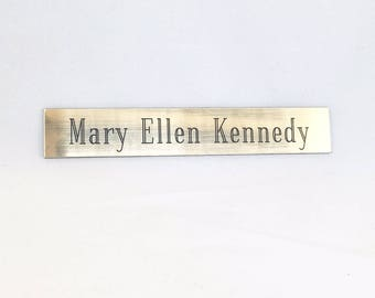 Brushed Gold/Silver Engraved Nameplate with Adhesive
