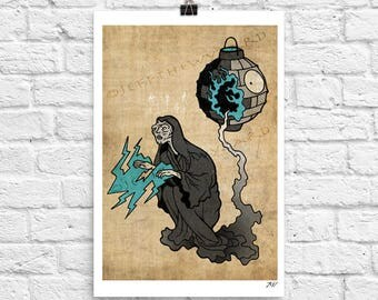 Star Wars Art Print Large Poster Emperor Palpatine 12x18 inches