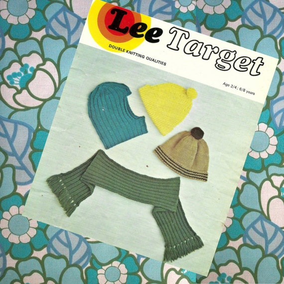 1970s Knit Patterns 1970s Knitted Knitted Scarf Knitted Hat