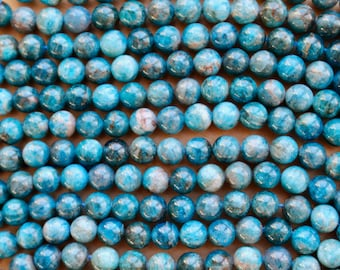 6mm Apatite beads, full strand, natural stone beads, round, 60098