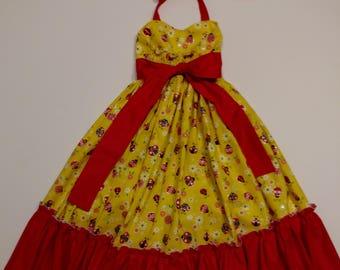 Sweetheart Ladybug Maxi Dress size 4T