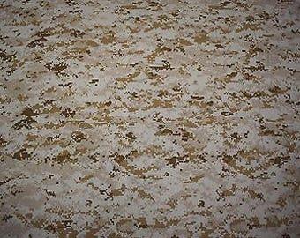 "Desert Marpat USMC T-shirt Knit 2-Way Stretch Camo Fabric 58"" Wide Camouflage T Shirt"