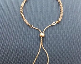 Rose Gold Vermeil Popcorn Slider Bracelet