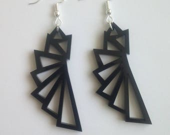 Earrings made out of Acrylic Plastic Pendant!!!