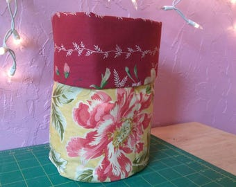 Reversible Round Fabric Basket/Bin