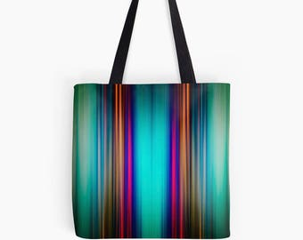 Abstract Bold pattern of colourful stripes Tote Bag