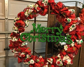 Merry Christmas wreath - Large