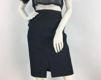 Vintage club monaco dark wash jean skirt