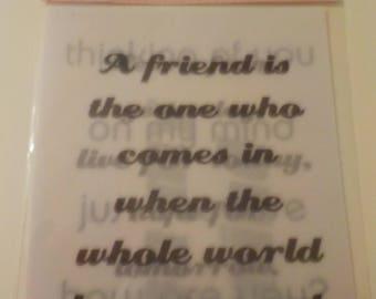 Friends Vellum Phrases Stickers