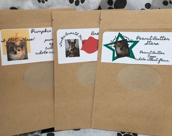 Phoebe and Tank Treat Trio- Homemade dog treats your dog will love!