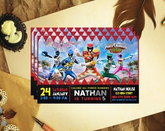 Power Ranger Invitation, Power Ranger Birthday, Power Ranger Invite, Power Ranger Party, Power Ranger Birthday Invite, Power Ranger, F0124