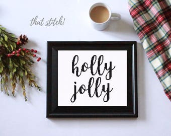 Christmas cross stitch pattern, counted cross stitch christmas, counted cross stitch, modern cross stitch pattern, christmas decor, #033