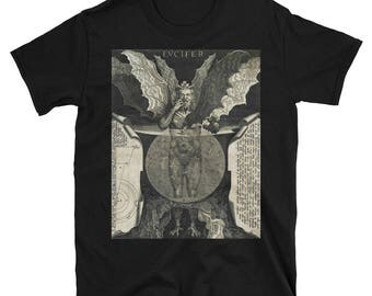 Lucifer in Hell - Dante's Inferno- Short-Sleeve Unisex T-Shirt