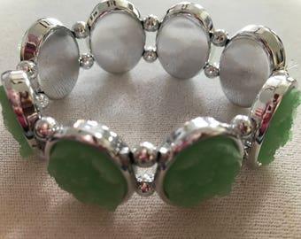 Mint Green Sparkle Stretch Bracelet