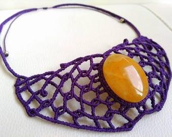 Necklace with quartz Yog