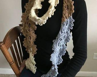 Crochet Queen Anne's Lace Scarf