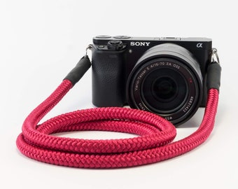 Handmade Camerastrap Red-Worldwide shipping-present-accessories-rope-for all cameras-gift for her-gift for him-Camerarope