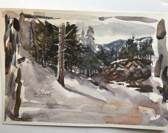 Al Krnc Original Watercolor Signed