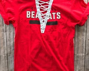Cincinnati Bearcats Lace Up T-shirt