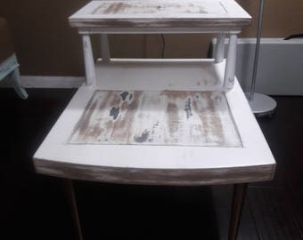 Vintage Lane Step Up Table  01/04/1955 . Redone Shabby chic