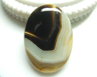 Black Botswana Agate Oval Cabochon,1 pec,Size-36x26x6 MM,Natural Black Botswana Agate, AAA Quality,Loose Gemstone, Smooth Cabochons.