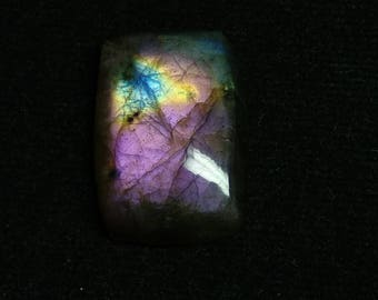 Labradorite Purpel Rectangal Cabochon,1 Piece,Size-23x16x6 MM,Purpel  Flashy,AAA,Loose Gemstone,Smooth Cabochons.