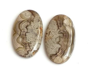 Crazy Lace Agate Oval Pair Cabochon,Size- 25x14 MM, Natural Crazy Lace Agate , AAA,Quality  Loose Gemstone, Smooth Cabochons.
