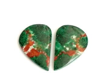 Chrysocolla Fancy Pair Cabochon,Size- 23x16 MM, Natural Chrysocolla, AAA,Quality  Loose Gemstone, Smooth Cabochons.