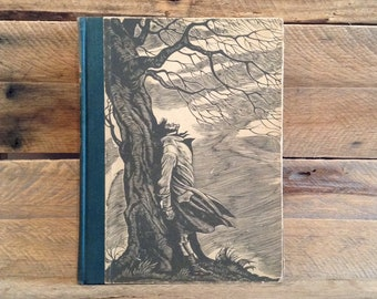 1943 Wuthering Heights, Emily Bronte, with Fritz Eichenberg Illustrations Duplicated from Wood Engravings