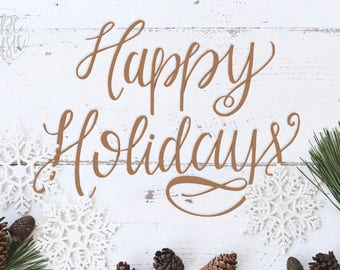 Happy Holidays print
