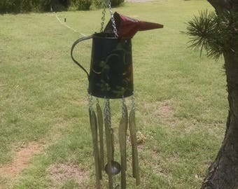 Antique Oil Can Wind Chime