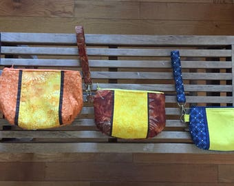 Handmade Wristlets in Three Sizes