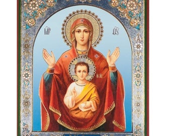 The Sign (Znamenie) russian icon orthodox christianity church icon
