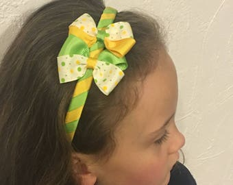 Headband for girls young and Apple green color