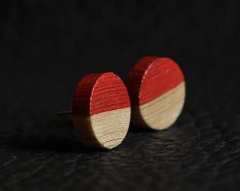 Wood earrings, handmade earrings, wood jewelry