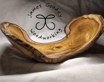 Handmade Laburnum Wooden Decorative Bowl