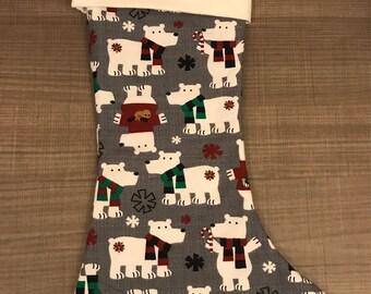 Christmas Polar Bear Stocking