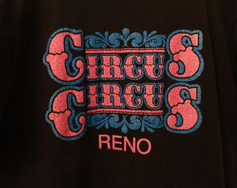 Vintage 90s Circus Circus Reno Tee - XL