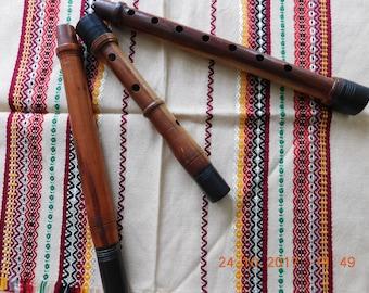 Ancient Bulgarian Folk Brass  Hand made  wooden flute instrument Kaval long musical Instrument primitive old rare