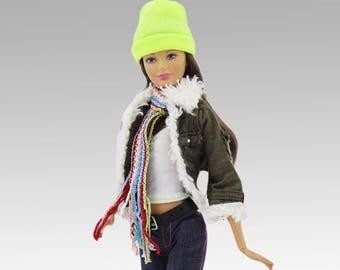 Barbie clothes - jacket, shoes, scarf, hat