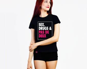 Gift for dancer, ballet tshirt, gift for ballerina, black swan, funny top, sex drugs, ballet funny, ballet top, ballet t-shirt, dance top