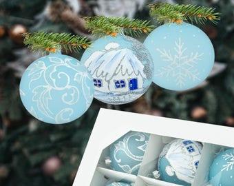 Unique Christmas Tree Balls Aqua Baubles Turquoise Ornaments Ball Xmas Decorative