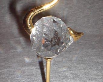 Heron - miniature collectible crystal figurine