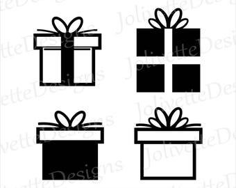 Christmas Gift, Birthday Present, Box, Clip Art, Clipart, Design, Svg Files, Png, Eps Files, Dxf Files, Pdf Files, Silhouette, Cricut, Cut
