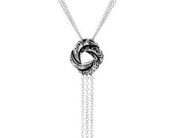 Love knot pendant etsy sterling silver algerian love knot pendant necklace inspired by james bond aloadofball Image collections