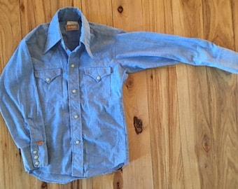 Vintage Ely Kids' Western Shirt- Hand-painted